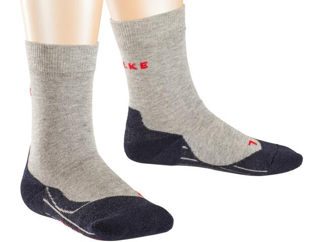 Falke RU4 - Chaussettes course à pied Enfant - gris/noir
